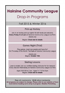 HCL - Fall and Winter Drop-in Programs 2015